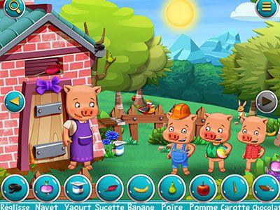 t l charger les 3 petits cochons cherche et trouve jeux gratuits en ligne avec. Black Bedroom Furniture Sets. Home Design Ideas