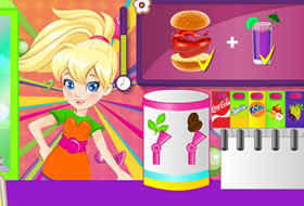 polly pocket burger caf
