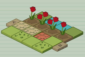 Mr. Tulip Head's Puzzle Garden