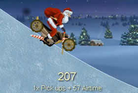 Crazy Santa Claus Race