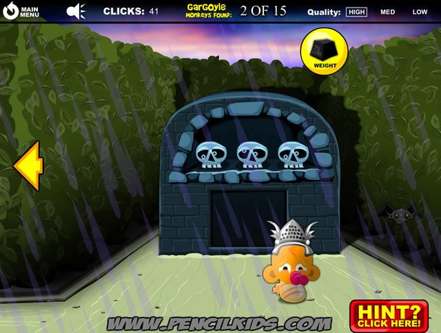 jouer monkey go happy the castle jeux gratuits en. Black Bedroom Furniture Sets. Home Design Ideas