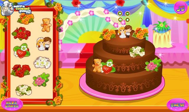 ... Gâteau de mariage au chocolat - Jeux gratuits en ligne avec Jeux.org