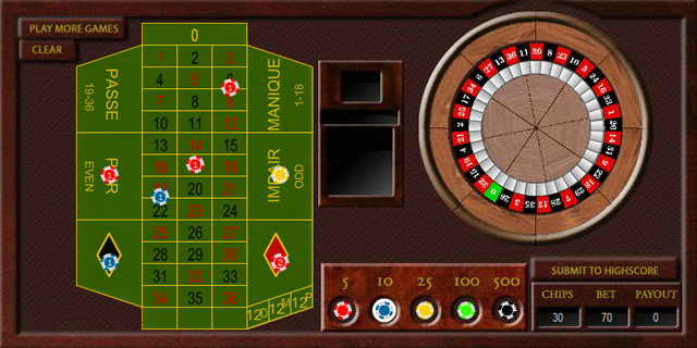 roulette games flash