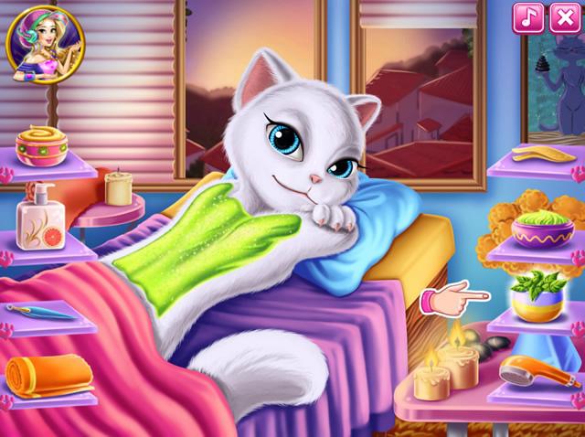 jouer angela va au spa jeux gratuits en ligne avec. Black Bedroom Furniture Sets. Home Design Ideas