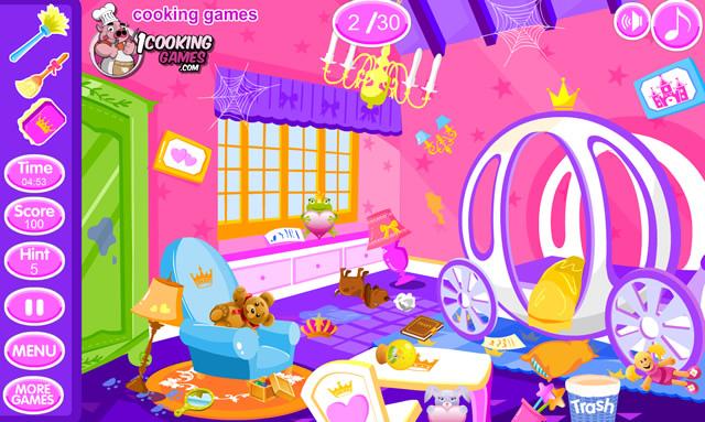 jouer nettoyage chambre de princesse 2 jeux gratuits en ligne avec. Black Bedroom Furniture Sets. Home Design Ideas