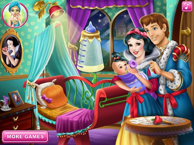 Jouer blanche neige et son b b jeux gratuits en ligne avec - Blanche neige et son prince ...