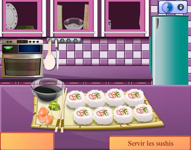jouer cours de cuisine de sara california rolls jeux gratuits en ligne avec. Black Bedroom Furniture Sets. Home Design Ideas