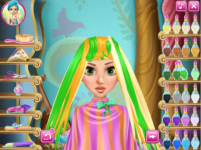 Jouer raiponce chez le coiffeur jeux gratuits en ligne - Jeux de coiffure raiponce ...