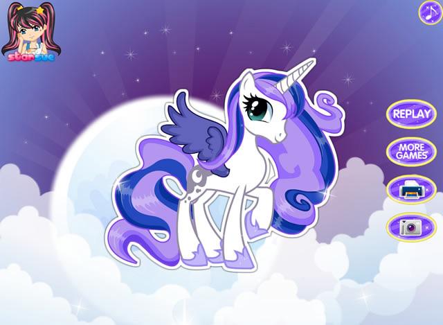 Jouer mon petit poney princesse luna jeux gratuits en - Jeux de poney ville gratuit ...