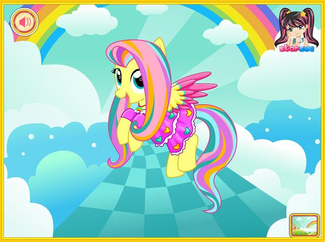 Jouer fluttershy rainbow mon petit poney jeux gratuits - Jeux de poney ville gratuit ...