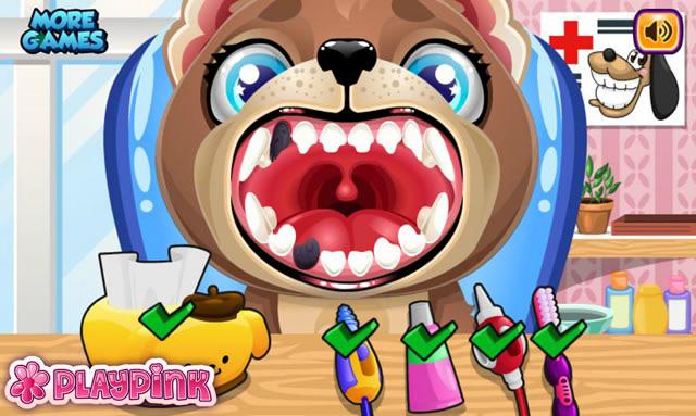jouer b b chien chez le dentiste jeux gratuits en ligne avec. Black Bedroom Furniture Sets. Home Design Ideas