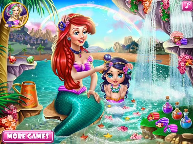 Jouer ariel et sa fille jeux gratuits en ligne avec - Jeux de crocodile sous la douche gratuit ...