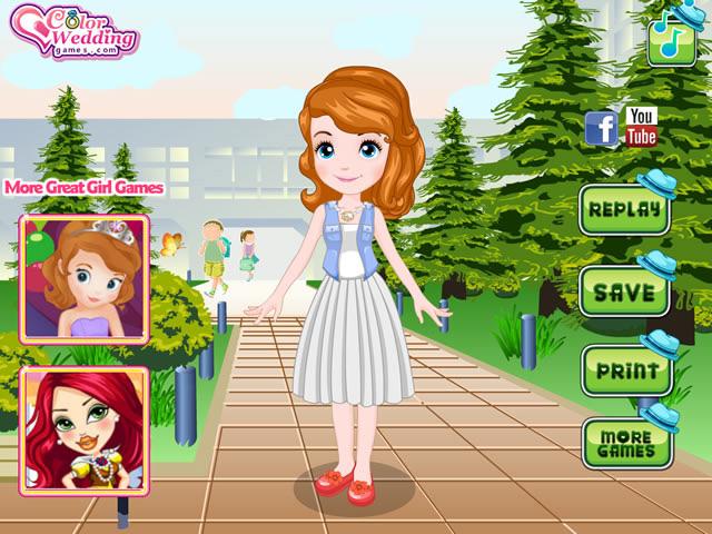 Jouer princesse sofia retourne l 39 cole jeux gratuits en ligne avec - Jeux de princesse sofia sirene gratuit ...