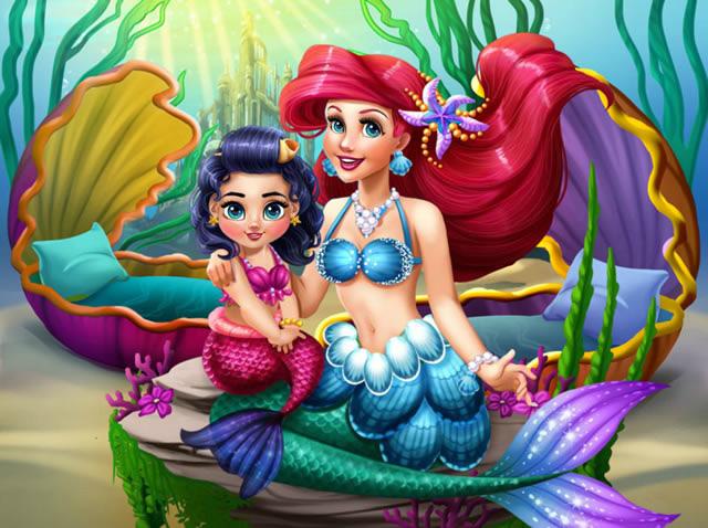 Jouer à Ariel Et Sa Fille Melody