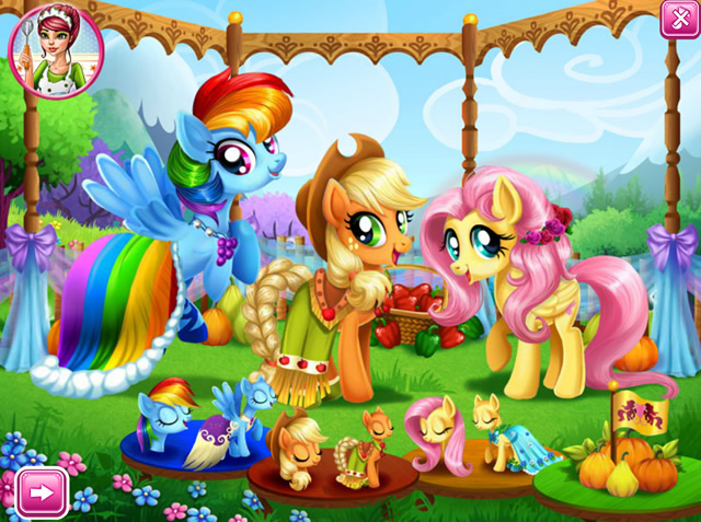 Jouer mon petit poney f te du village jeux gratuits - Jeux de poney ville gratuit ...