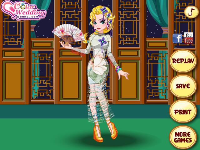 Jouer à Elsa en robe Chinoise - Jeux gratuits en ligne ...