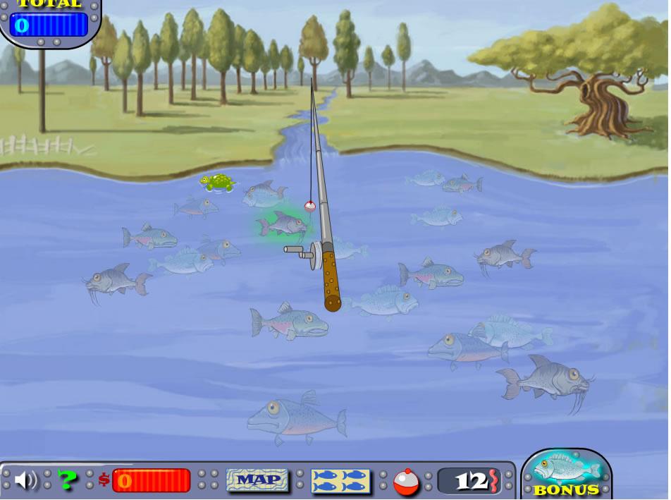играть бесплатно и без регистрации в детскую рыбалку