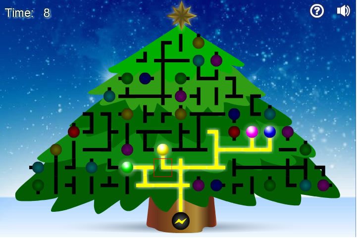 Jouer light up the christmas tree jeux gratuits en - Jeux de reliage ...