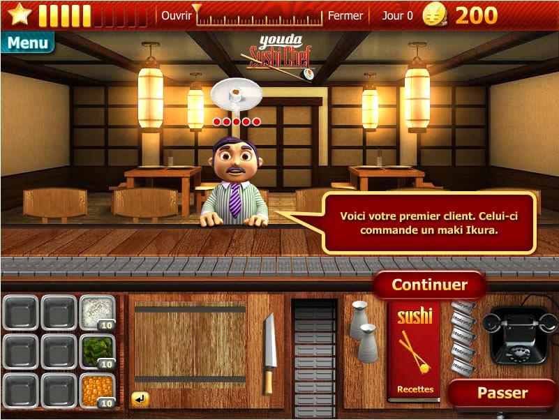 Флеш игра Youda Sushi Chef.