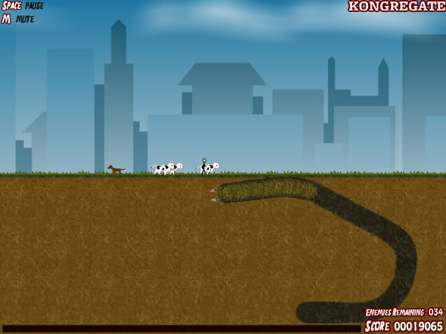 jeux flash worms