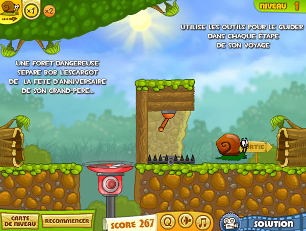 Jouer snail bob 2 jeux gratuits en ligne avec - Jeux bob l escargot gratuit ...
